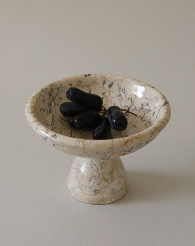 Crema Marble Fruit Bowl (M)