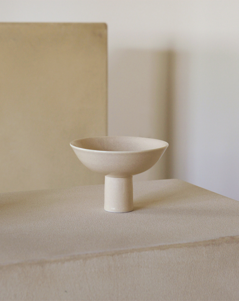 Moon and Sand│Pedestal Bowl