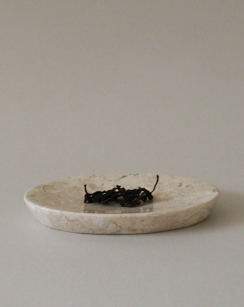 Crema Marble Plate (Oval)