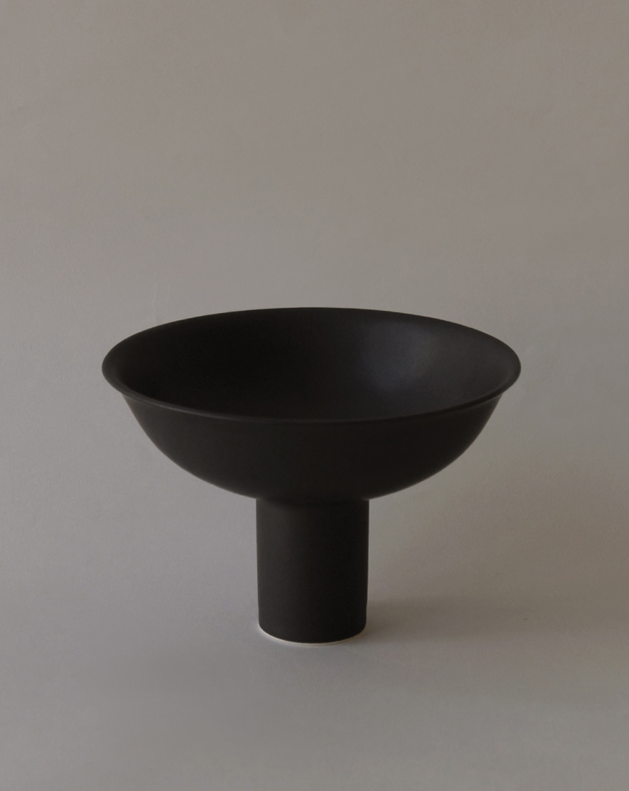 Moon and Sand│Pedestal Bowl (Night Rain)